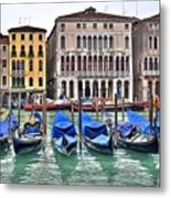 Gondolas Galore Metal Print