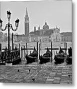 Gondolas Of San Marco Square Metal Print