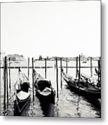 Gondolas Of Venice Metal Print