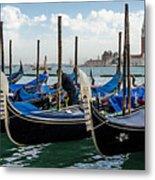 Gondolas On The Grand Canal Metal Print