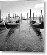 Gondolier In The Distance Metal Print