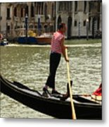 Gondolier With Matching Socks Metal Print