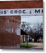 Gone Grocery 4 #vanishingtexas Street Scene Rosebud Texas Metal Print