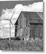 Gone With The Wind 3 Bw Metal Print
