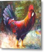 Gonzalez The Rooster Metal Print by Talya Johnson