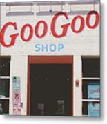 Goo Goo Shop- Photography By Linda Woods Metal Print