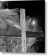 Good  Friday  In  Black  And  White Metal Print