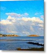 Good Harbor Clouds And Sun Metal Print