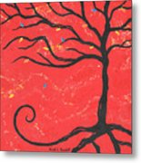 Good Luck Tree - Right Metal Print by Kristi L Randall