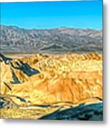 Good Morning From Zabriskie Point Metal Print