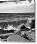 Good Morning In Black And White Metal Print