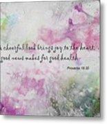 Good News Produces Good Health Metal Print