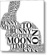 Goodnight My Bunny Metal Print
