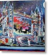 Goodnight Tower Bridge Metal Print