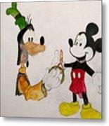 Goofy And Mickey Metal Print