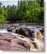 Goose Berry River Rapids Metal Print