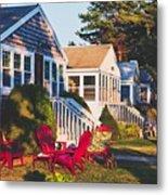 Goose Creek Beach Cottages Metal Print