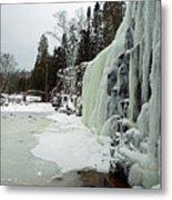 Gooseberry Frozen Falls Metal Print