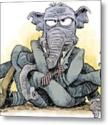 Gop Tied Up In A Knot Metal Print