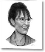 Gop Vp Candidate Sarah Palin Metal Print