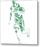 Gordon Hayward Boston Celtics Pixel Art 10 Metal Print