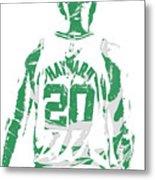 Gordon Hayward Boston Celtics Pixel Art T Shirt 5 Metal Print