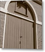 Gore Barn Door Metal Print