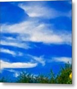 Gorgeous Blue Sky With Clouds Metal Print