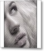 Gorgeous Girl With Sugar On Her Lips Metal Print