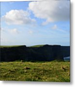 Gorgeous Seascape Along The Cliffs Of Moher In Ireland Metal Print