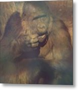 Gorilla In The Mist Metal Print