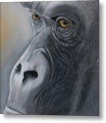 Gorilla Love Metal Print