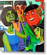 Gossips At The Greengrocer's Metal Print