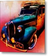 Got Wood Surf Woody Wonderland Watercolour Metal Print