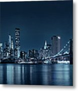 Gotham City Skyline Metal Print