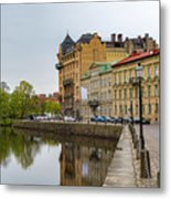 Gothenburg Canal And Park Metal Print