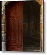 Gothic Church Door Metal Print