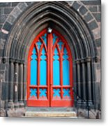 Gothic Church Door Metal Print