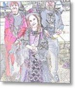 Gothic Ice Cream Girl Metal Print