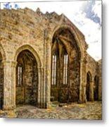 Gothic Temple Ruins - San Domingos Metal Print