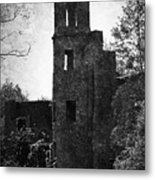 Gothic Tower At Blarney Castle Ireland Metal Print