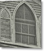 Nantucket Gothic Window  Metal Print