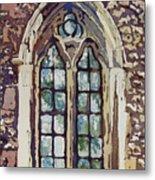 Gothic Window Metal Print