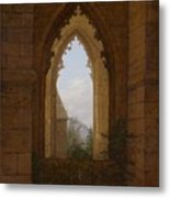 Gothic Windows In The Ruins Of The Monastery At Oybin Metal Print