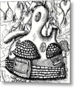 Gourd Fairy House With Snail And Preying Mantis Metal Print