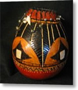 Gourd With Abalone Metal Print