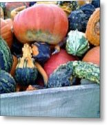 Gourds In A Crate Metal Print