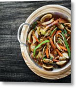 Gourmet Clam And Vegetable Seafood Stew In Spicy Tomato Sauce Metal Print