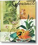 Gourmet Cover Featuring A Bowl Of Peaches Metal Print