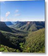 Govetts Leap Lookout Panorama, Australia Metal Print
